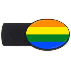 Pride Rainbow Flag Usb Flash Drive Oval (4 Gb)