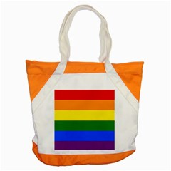 Pride Rainbow Flag Accent Tote Bag by Valentinaart