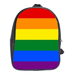 Pride Rainbow Flag School Bags(large)  by Valentinaart