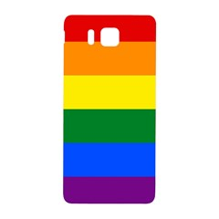 Pride Rainbow Flag Samsung Galaxy Alpha Hardshell Back Case by Valentinaart