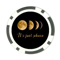 Moon Phases  Poker Chip Card Guard by Valentinaart