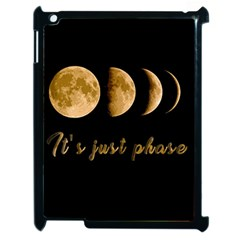 Moon Phases  Apple Ipad 2 Case (black) by Valentinaart
