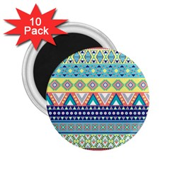 Tribal Print 2 25  Magnets (10 Pack)  by BangZart
