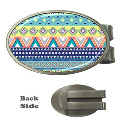 Tribal Print Money Clips (oval)  by BangZart