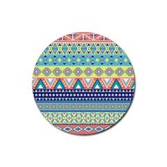 Tribal Print Rubber Round Coaster (4 Pack)  by BangZart