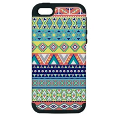 Tribal Print Apple Iphone 5 Hardshell Case (pc+silicone) by BangZart