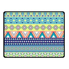 Tribal Print Double Sided Fleece Blanket (small)  by BangZart