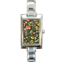 Bohemia Floral Pattern Rectangle Italian Charm Watch by BangZart