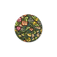Bohemia Floral Pattern Golf Ball Marker (4 Pack) by BangZart