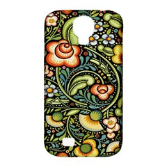 Bohemia Floral Pattern Samsung Galaxy S4 Classic Hardshell Case (pc+silicone)