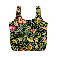 Bohemia Floral Pattern Full Print Recycle Bags (m)