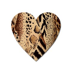 Animal Fabric Patterns Heart Magnet by BangZart