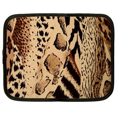 Animal Fabric Patterns Netbook Case (large) by BangZart