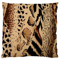 Animal Fabric Patterns Large Cushion Case (two Sides) by BangZart
