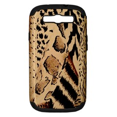 Animal Fabric Patterns Samsung Galaxy S Iii Hardshell Case (pc+silicone) by BangZart