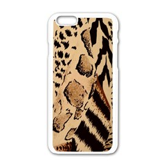 Animal Fabric Patterns Apple Iphone 6/6s White Enamel Case by BangZart