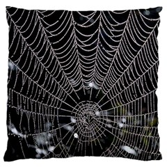 Spider Web Wallpaper 14 Large Cushion Case (two Sides) by BangZart