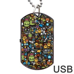 Many Funny Animals Dog Tag Usb Flash (one Side) by BangZart