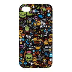 Many Funny Animals Apple Iphone 4/4s Premium Hardshell Case by BangZart