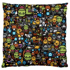 Many Funny Animals Large Cushion Case (two Sides)