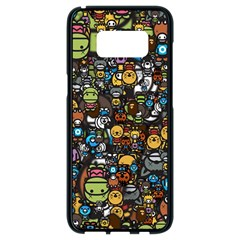Many Funny Animals Samsung Galaxy S8 Black Seamless Case
