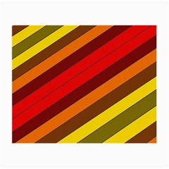 Abstract Bright Stripes Small Glasses Cloth by BangZart