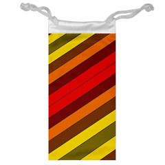 Abstract Bright Stripes Jewelry Bag