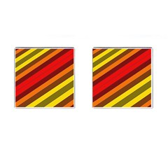 Abstract Bright Stripes Cufflinks (square) by BangZart