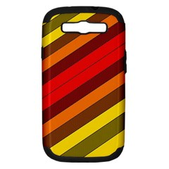 Abstract Bright Stripes Samsung Galaxy S Iii Hardshell Case (pc+silicone) by BangZart