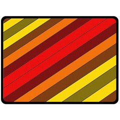 Abstract Bright Stripes Double Sided Fleece Blanket (large)  by BangZart