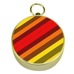 Abstract Bright Stripes Gold Compasses by BangZart