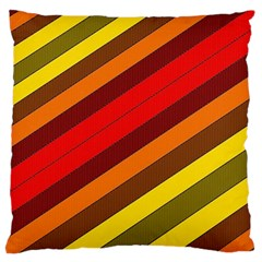 Abstract Bright Stripes Standard Flano Cushion Case (two Sides) by BangZart