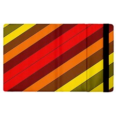 Abstract Bright Stripes Apple Ipad Pro 9 7   Flip Case by BangZart
