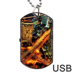 Hdri City Dog Tag Usb Flash (two Sides) by BangZart