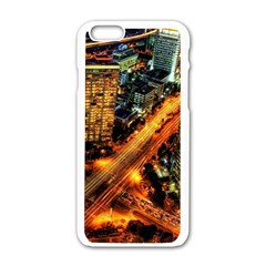 Hdri City Apple Iphone 6/6s White Enamel Case by BangZart