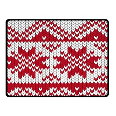 Crimson Knitting Pattern Background Vector Fleece Blanket (small)