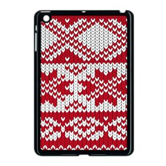 Crimson Knitting Pattern Background Vector Apple Ipad Mini Case (black) by BangZart
