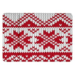 Crimson Knitting Pattern Background Vector Samsung Galaxy Tab 8 9  P7300 Flip Case by BangZart