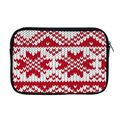 Crimson Knitting Pattern Background Vector Apple Macbook Pro 17  Zipper Case by BangZart