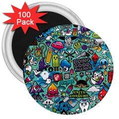 Comics 3  Magnets (100 Pack) by BangZart