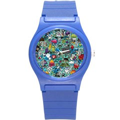 Comics Round Plastic Sport Watch (s) by BangZart