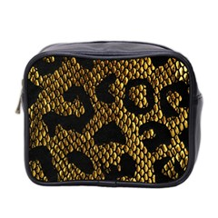 Metallic Snake Skin Pattern Mini Toiletries Bag 2 Side by BangZart