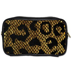 Metallic Snake Skin Pattern Toiletries Bags 2 Side by BangZart