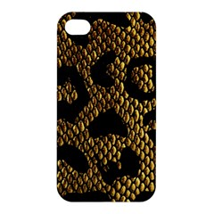 Metallic Snake Skin Pattern Apple Iphone 4/4s Hardshell Case by BangZart