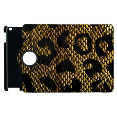 Metallic Snake Skin Pattern Apple Ipad 2 Flip 360 Case by BangZart