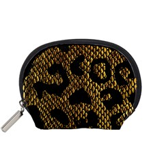 Metallic Snake Skin Pattern Accessory Pouches (small)  by BangZart