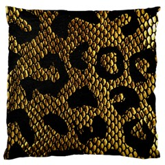 Metallic Snake Skin Pattern Large Flano Cushion Case (two Sides) by BangZart