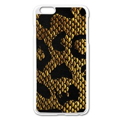 Metallic Snake Skin Pattern Apple Iphone 6 Plus/6s Plus Enamel White Case by BangZart
