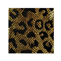 Metallic Snake Skin Pattern Small Satin Scarf (square) by BangZart