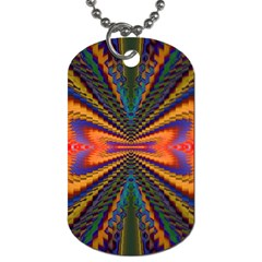 Casanova Abstract Art Colors Cool Druffix Flower Freaky Trippy Dog Tag (two Sides) by BangZart